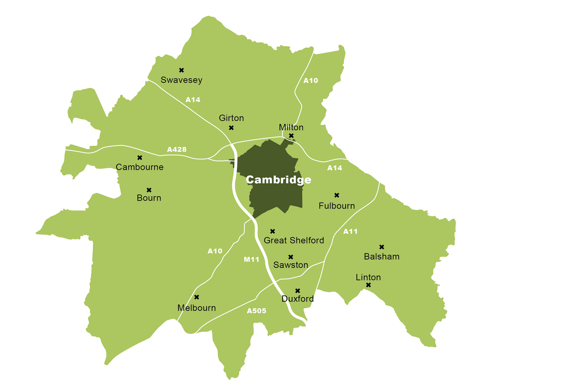 Map of Greater Cambridge